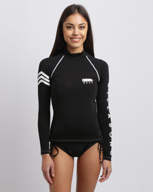 Billabong For Keeps Long Sleeve Rashguard Black