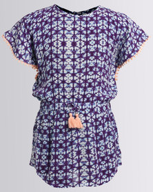 Billabong Kaleidoscope Dress Purple