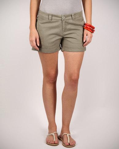 Billabong Girl Next Door Walk Shorts Khaki | Zando