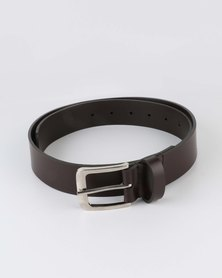 Black Lemon Bonded Leather Belt Choc