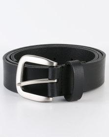 Black Lemon Genuine Leather Belt Black
