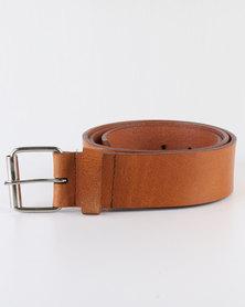 Black Lemon Buffalo Genuine Leather Belt Tan