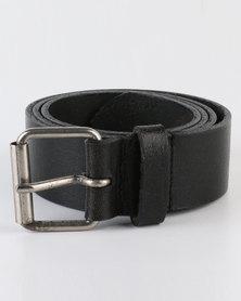 Black Lemon Buffalo Genuine Leather Belt Black
