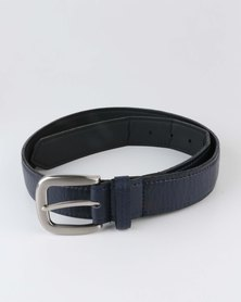 Black Lemon PU Belt Navy