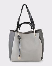 Blackcherry Bag Body Trim Front Tag Tote Bag Grey