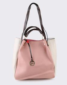 Blackcherry Bag Body Trim Front Tag Tote Bag Pink
