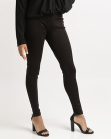 Bombshell Scuba Leggings Black