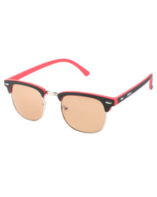 BONDIBLU CLUBMASTER SUNGLASSES RED