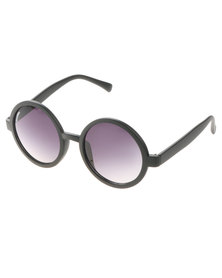 BONDIBLU ROUND SUNGLASSES BLACK