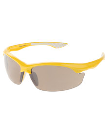 BondiBlu Half Frame Wrap Around Sunglasses Yellow