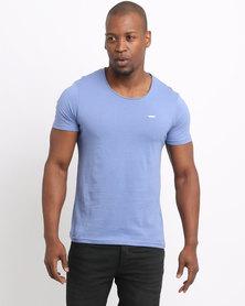 Born Rich Crisiano T-Shirt Blue Ice