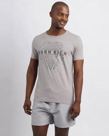 Born Rich Arjen T-Shirt Alloy Marl Grey