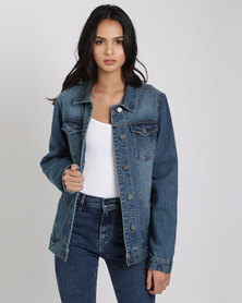 Brave Soul Denim Jacket Blue