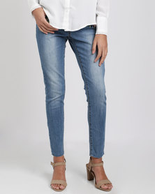 Brave Soul Jeans With Embroidery Blue