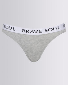 Brave Soul Thong Branded Waistband Contrast Pack Multi