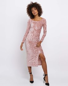 Brett Robson Gigi Off-Shoulder Dress Blush