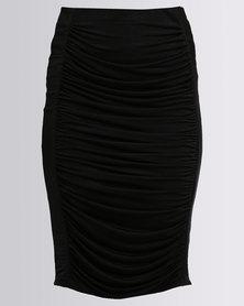 Brett Robson Rubi Ruched Skirt Black