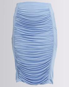 Brett Robson Rubi Ruched Skirt Blue