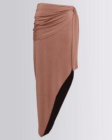 Brett Robson Dineo Asymmetrical Skirt Bronze