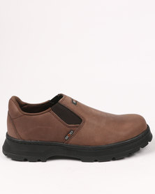 Bronx Men Art Casual Slip On Shoe Choc Brown