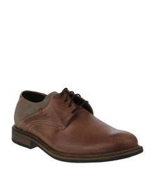 Bronx Men Jump Oatmeal/Cigar Casual Lace Up Shoe Brown