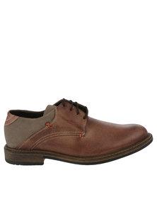 Bronx Men Jump Oatmeal/Cigar Casual Lace Up Shoe Brown