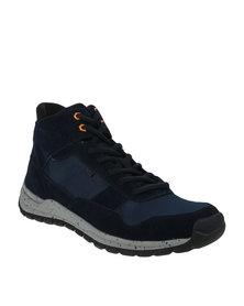 Bronx Men Gotham High Top Sneaker Navy