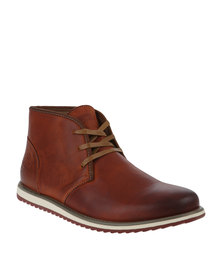 Bronx Men Dwight Lace Up Casual Boot Brown