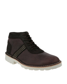 Bronx Men Jagter Casual Lace-Up Boots Brown