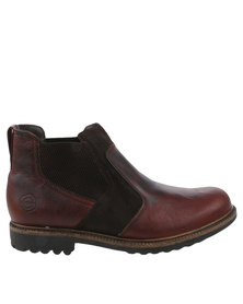 Bronx Men Sasso Casual Slip On Boot Red And Brown