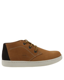 Bronx Men Subway Casual Lace Up Sneaker Whiskey/Choc