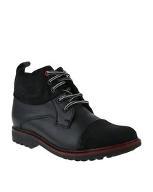 Bronx Men Sasso Casual Lace Up Boot Black