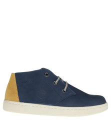 Bronx Men Subway Casual Lace Up Sneaker Blue