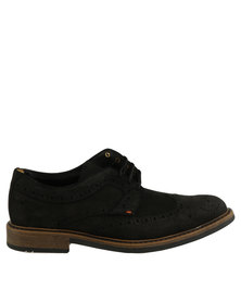 Bronx Men Jump Casual Lace Up Shoe Black