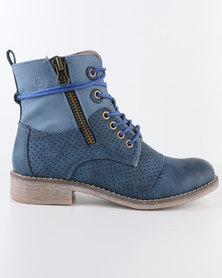 Bronx Woman Reach Combat Boot Online Exclusive Blue