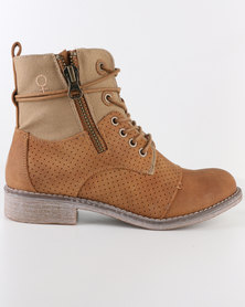 Bronx Woman Reach Combat Boot Online Exclusive Tan