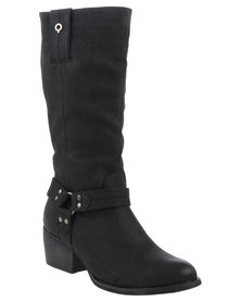 Bronx Woman Rebea Pistol Boot Black