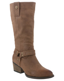 Bronx Woman Rebea Pistol Boot Chocolate