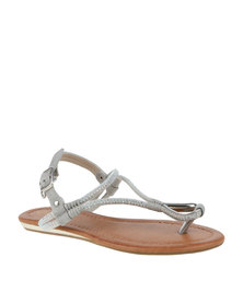 Bronx Woman Amorette Thong Sandal Dark Grey