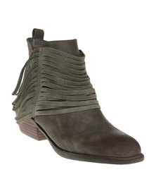 Bronx Woman Page Ankle Boots With Fringe Detail Brown *Exclusive Online
