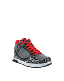 Bubblegummers Funkier Hi Top Sneaker Grey & Black