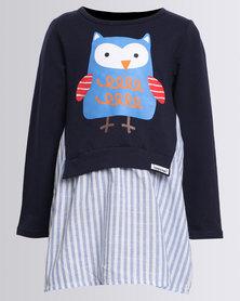 Bugsy Boo Owl Dress Multi