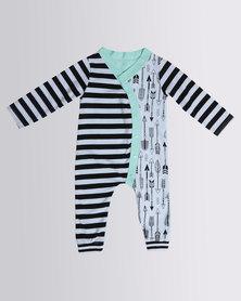 Bugsy Boo Arrow Baby Grow Black