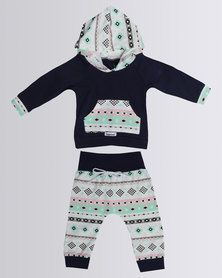 Bugsy Boo Baby Abstract Set Navy