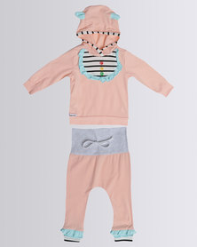 Bugsy Boo Baby Frills Set Pink