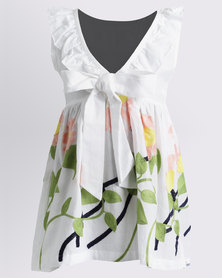 Bugsy Boo Floral Summer Dress White
