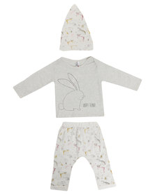 Bugsy Boo Little Bunny Rabbit Tracksuit White