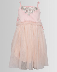 Bugsy Boo Sparkly Tulle Dress Pink