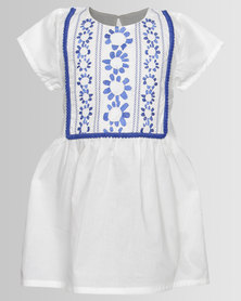 Bugsy Boo White Embroided Dress