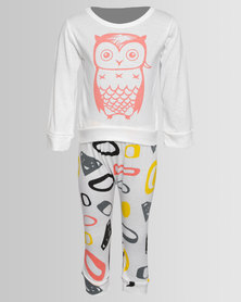 Bugsy Boo Little Owl Baby Set White